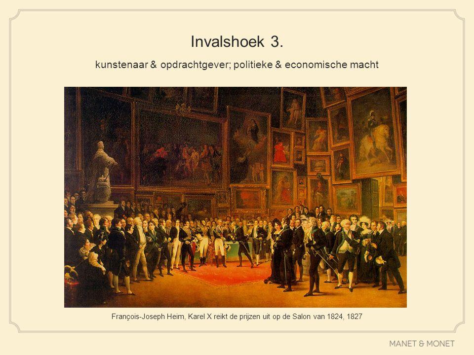 Invalshoek 3. kunstenaar & opdrachtgever; politieke & economische macht François-Joseph Heim, Karel X reikt de prijzen uit op de Salon van 1824, 1827