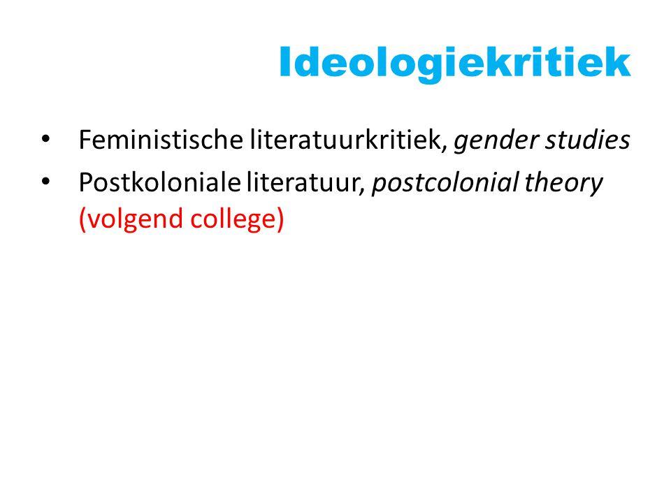 Feministische literatuurkritiek Onderdeel Gender Studies Interdisciplinair karakter Kritisch t.o.v.
