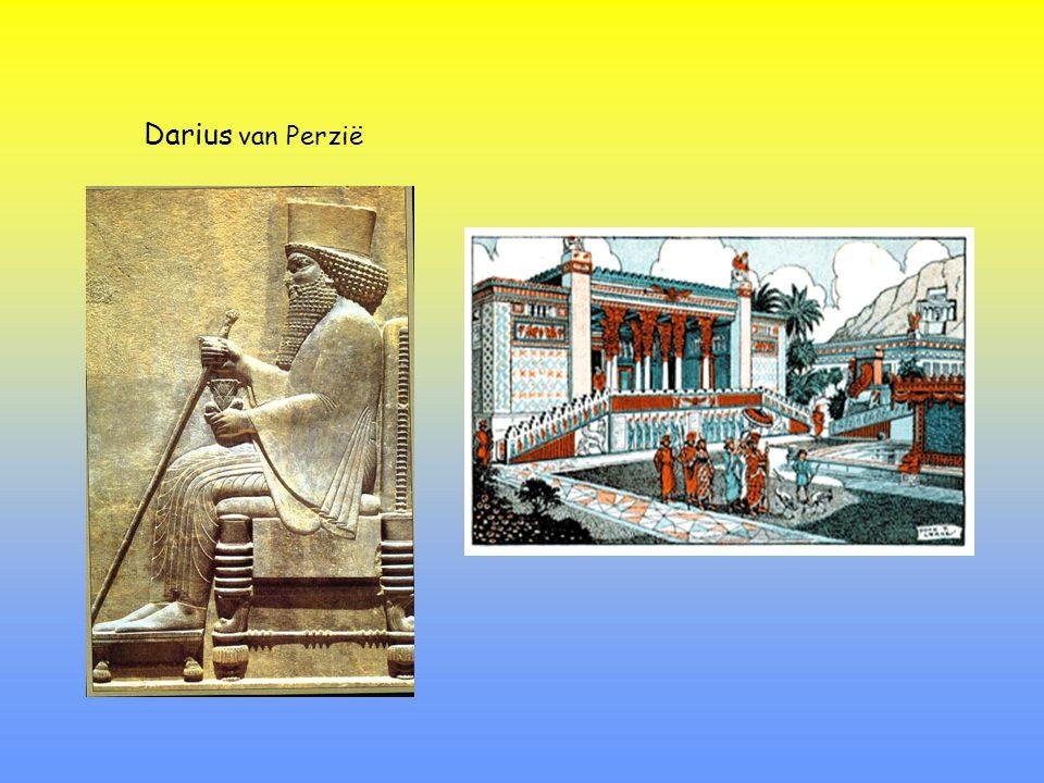 490 v.C.: Eerste strijd in vlakte van Marathon Darius van PerziëMiltiades van Athene 