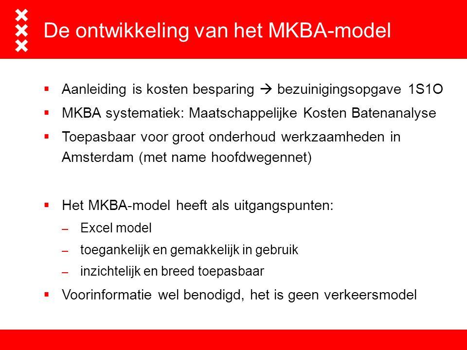 Het advies- en ingenieursbureau van Amsterdam De ontwikkeling van het MKBA-model  Aanleiding is kosten besparing  bezuinigingsopgave 1S1O  MKBA sys