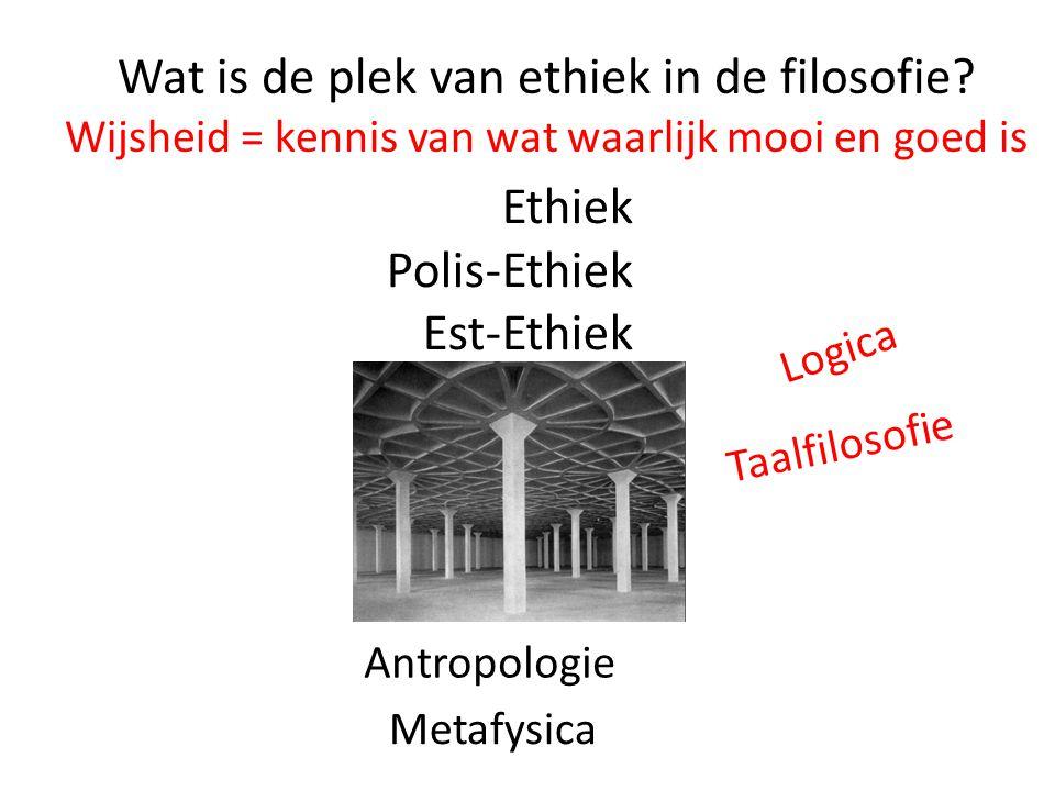 Wat is de plek van ethiek in de filosofie.