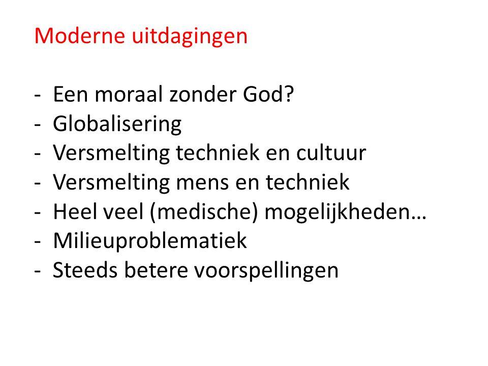 Moderne uitdagingen - Een moraal zonder God.