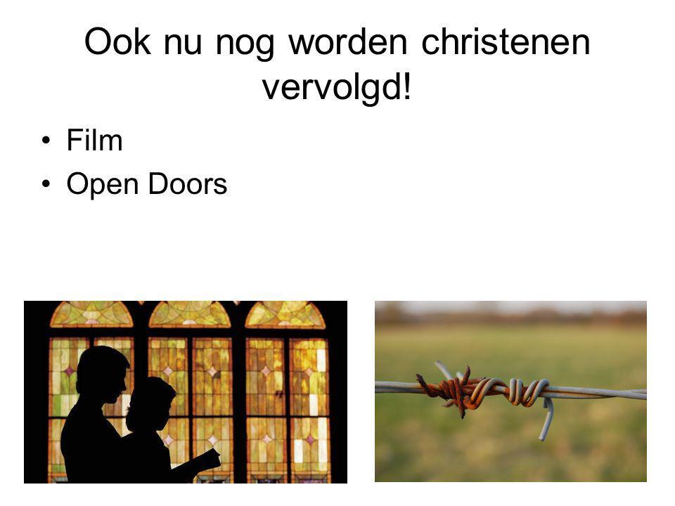 Ook nu nog worden christenen vervolgd! Film Open Doors