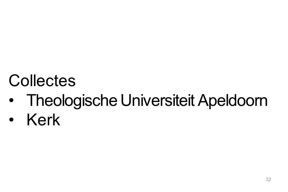 32 Collectes Theologische Universiteit Apeldoorn Kerk