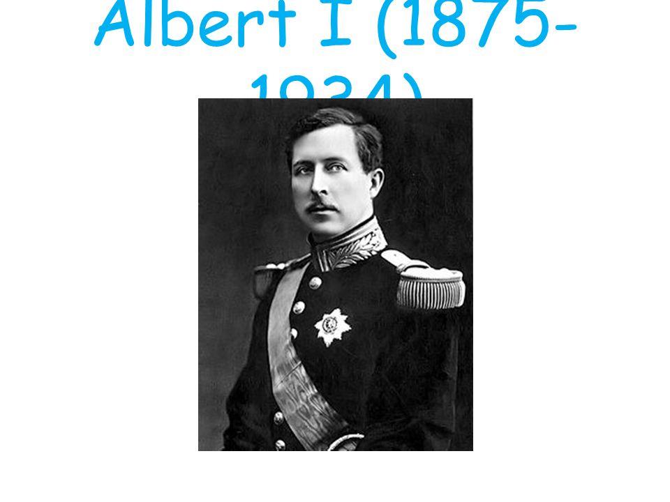 """Zoon broer Leopold (Filips) Als eerste eed in het Frans én Nederlands Ook gericht op defensie WOI: – Opperbevelhebber leger – """"Koning-soldaat – IJzerfront"""