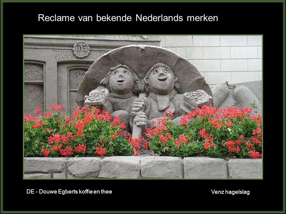 Reclame van bekende Nederlands merken Venz hagelslag DE - Douwe Egberts koffie en thee