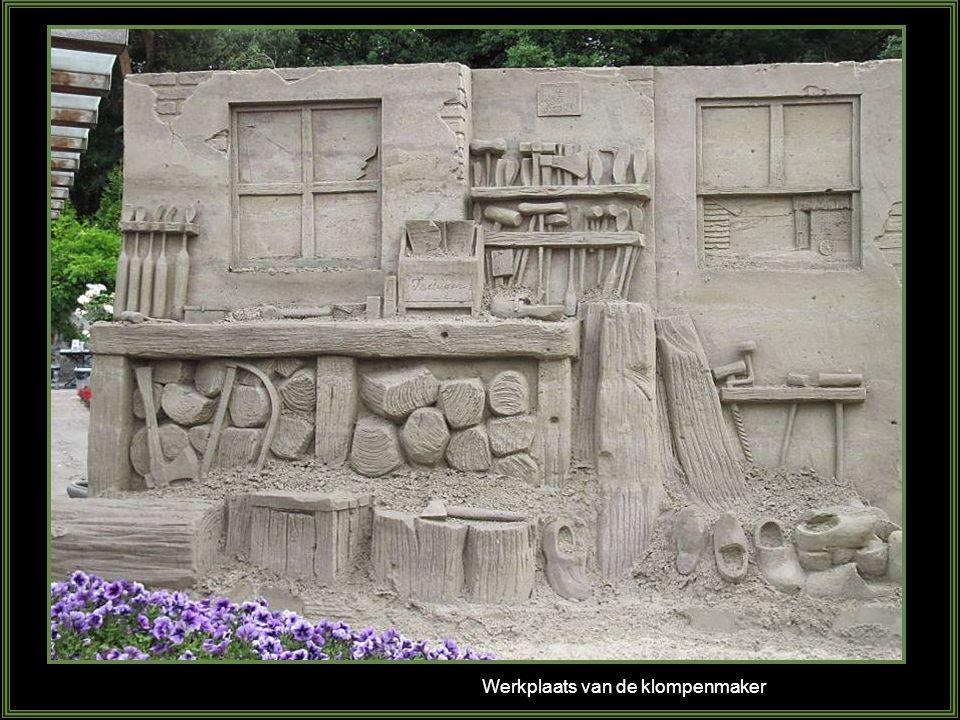 Werkplaats van de klompenmaker
