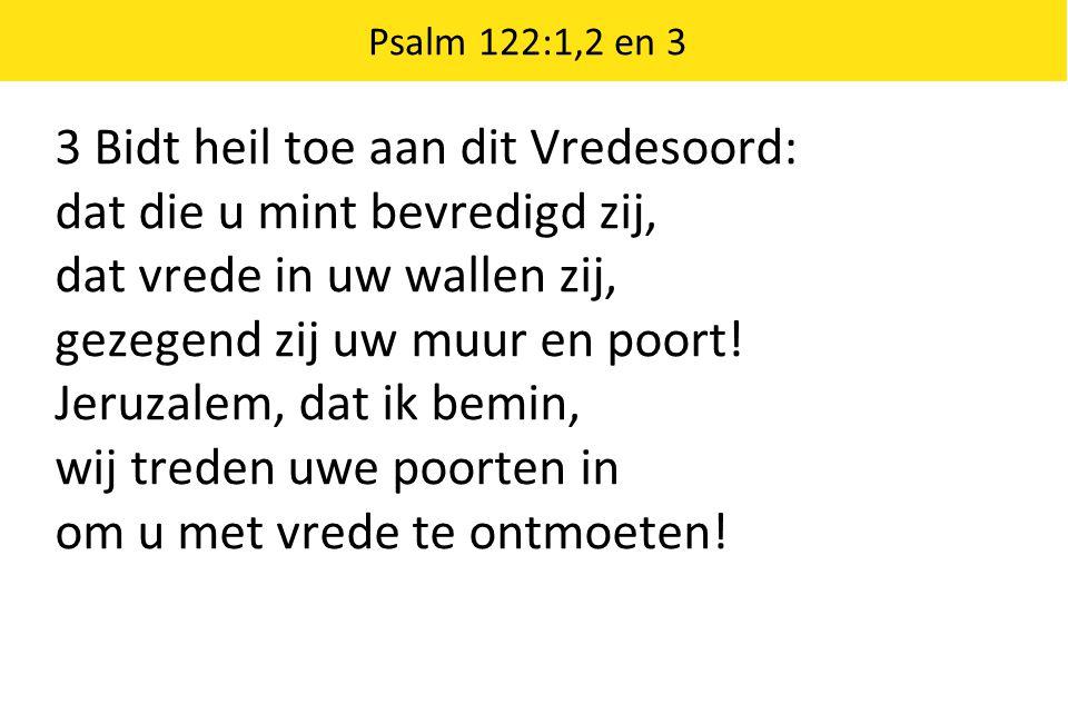 Om al mijn broeders binnen u, om s HEREN tempel wil ik u, o stad van God, met vrede groeten.