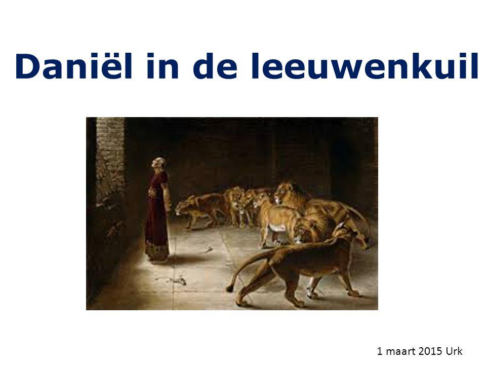 Daniël in de leeuwenkuil 1 maart 2015 Urk