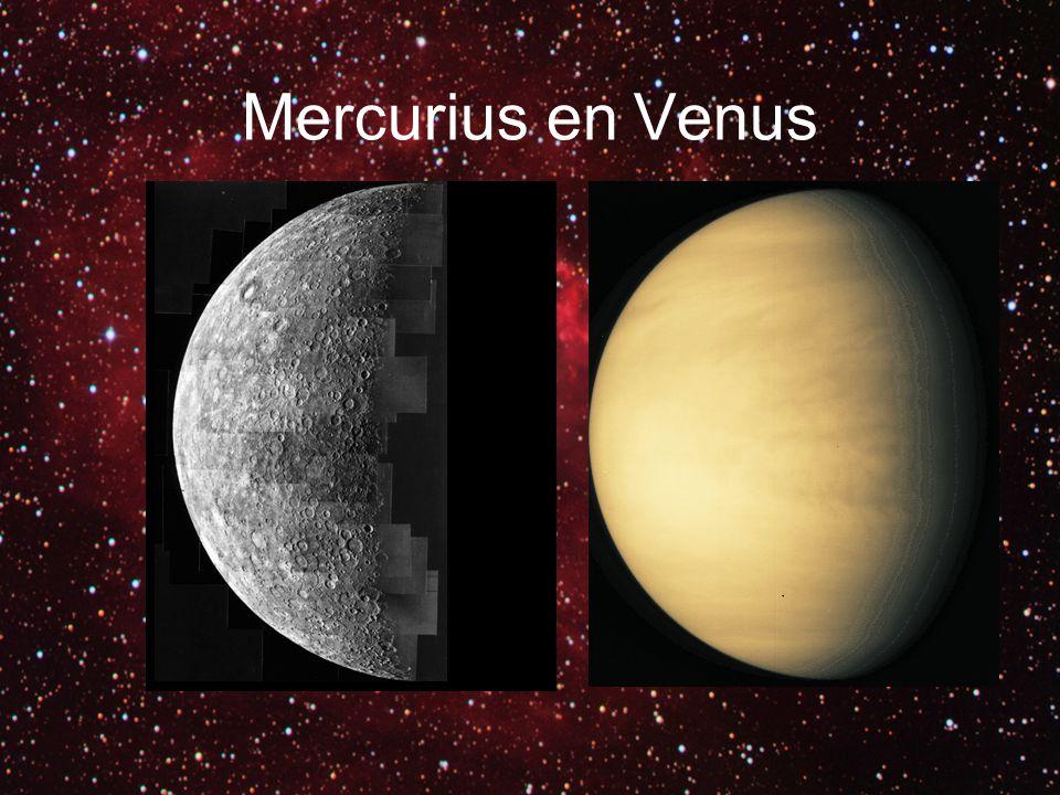 Mercurius: Droge Feiten Afstand tot de Zon: Min.:46,001,272 km Max.:69,817,079 km Excentriciteit:0.205 Rondje om de Zon:87.969 dagen Rondje om z'n as: 58.65 d Diameter: 4879.4 km Dichtheid: 5427 kg/m³ Zwaartekracht : 3.701 m/s² Oppervlaktetemperatuur:Min.: 90 K (-183° C) Gem.: 440 K (167° C) Max.: 700 K (427° C)