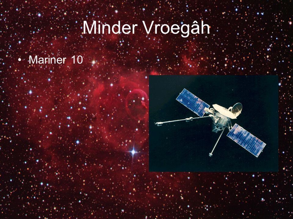 Venera Venera 1 & 2: Mislukt Venera 3 t/m 6: Stuk in de atmosfeer Venera 7 & 8: Landden succesvol Venera 9 t/m 14: Landden succesvol en hadden camera's mee Venera 15 & 16: Waren alleen orbiters