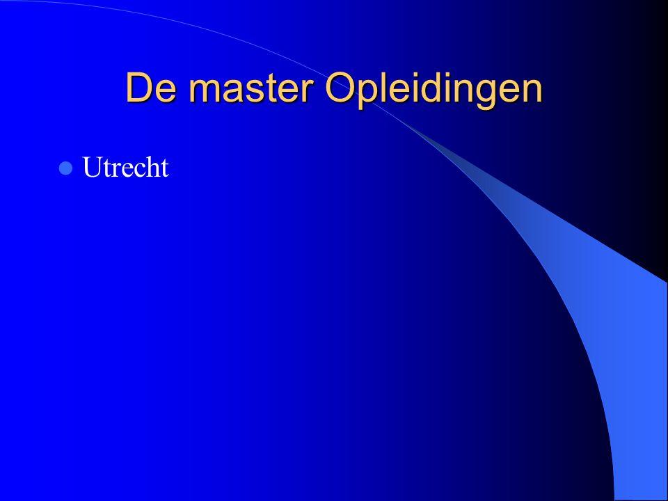 De master Opleidingen Utrecht