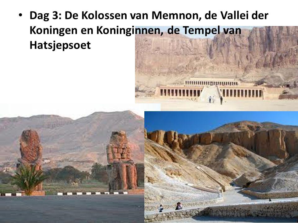 Dag 3: De Kolossen van Memnon, de Vallei der Koningen en Koninginnen, de Tempel van Hatsjepsoet