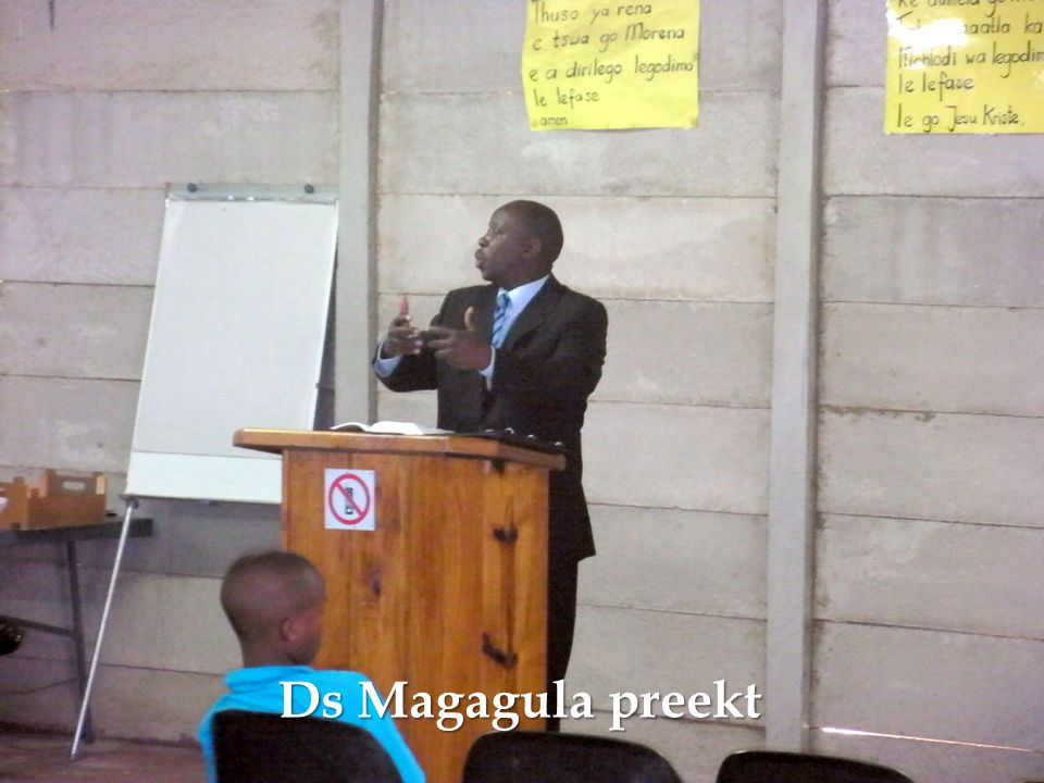Ds Magagula preekt