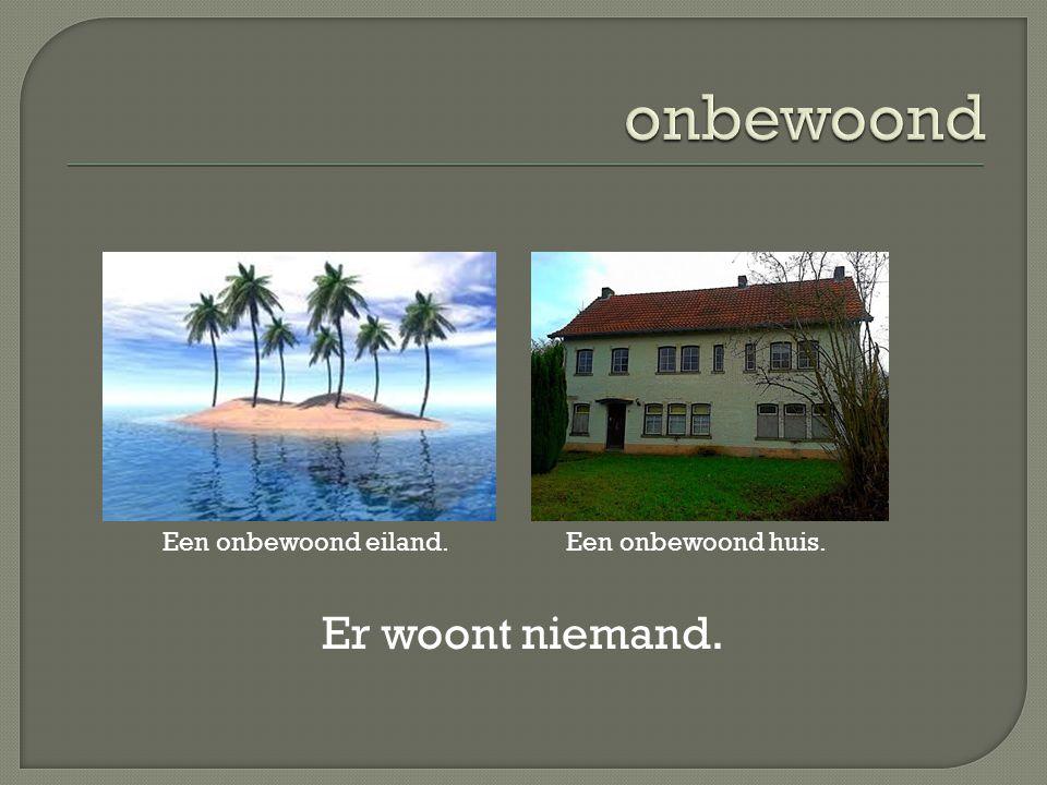 Er woont niemand. Een onbewoond eiland.Een onbewoond huis.