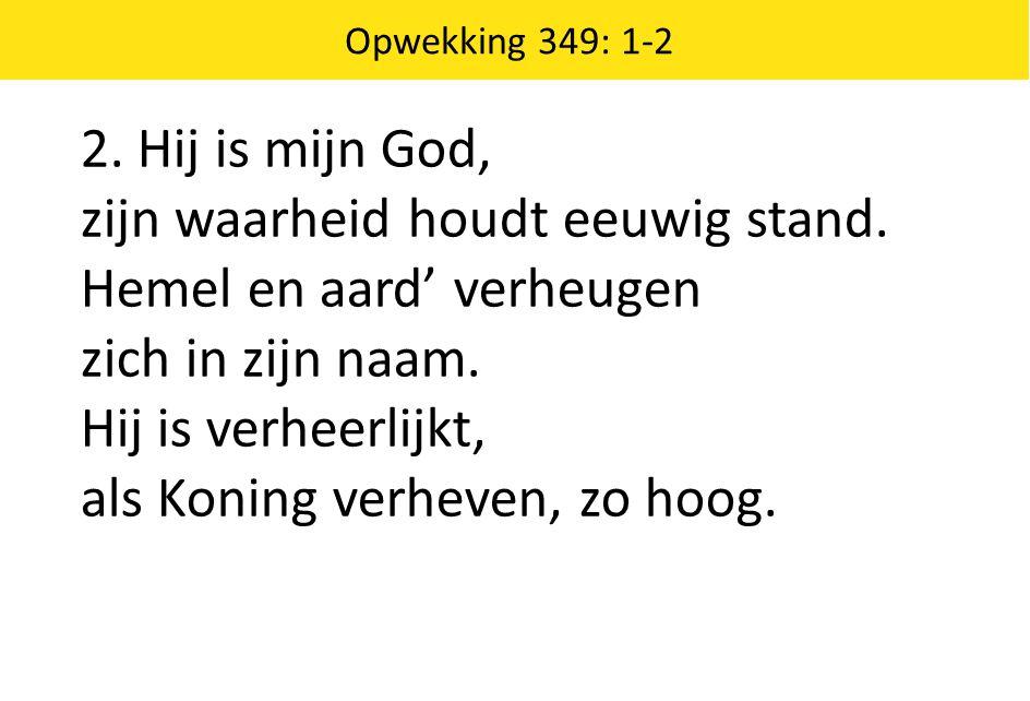 Opwekking 638: 1-2 1.Wie is als Hij. De Leeuw maar ook het Lam, Gezeten op de troon.