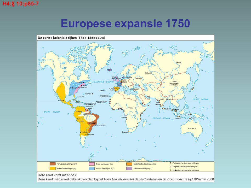 Europese expansie 1750 H4:§ 10:p85-7
