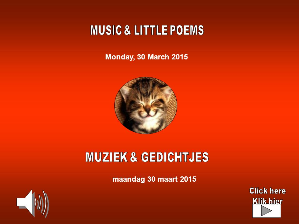 Monday, 30 March 2015 maandag 30 maart 2015