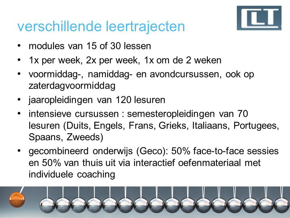 aantrekkelijke prijzen voor cursussen die starten in september : 1 lesuur = 1 € bv.