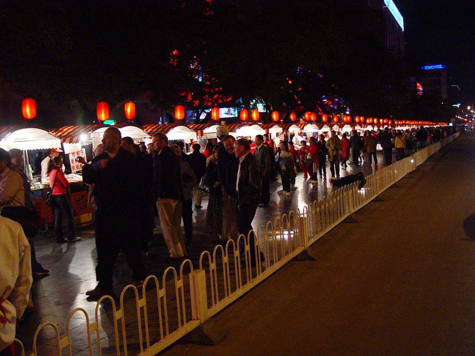 De markt in Peking
