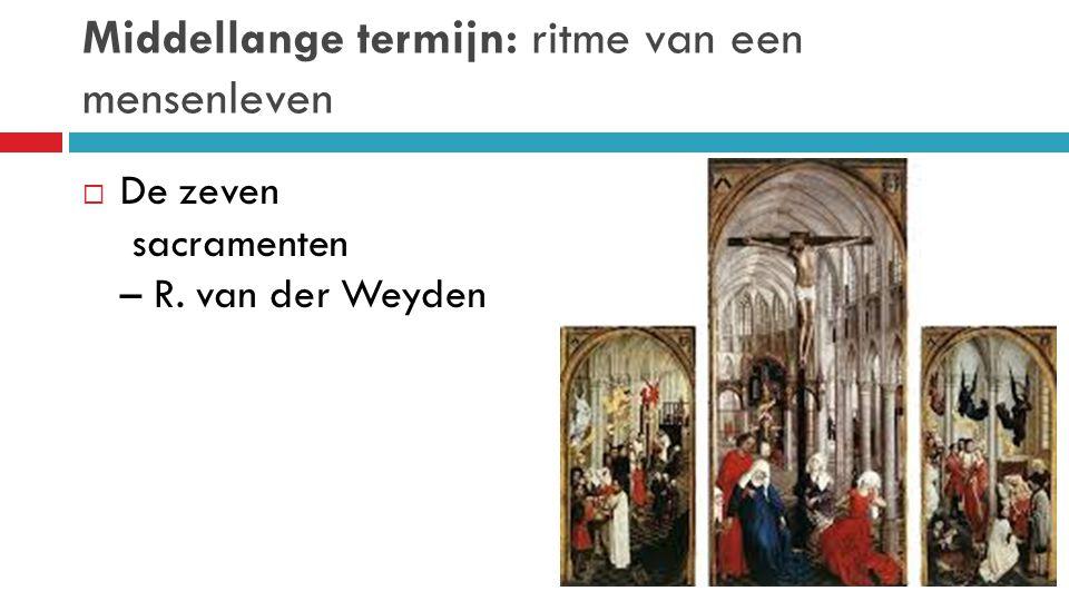 Middellange termijn: ritme van een mensenleven  De zeven sacramenten – R. van der Weyden