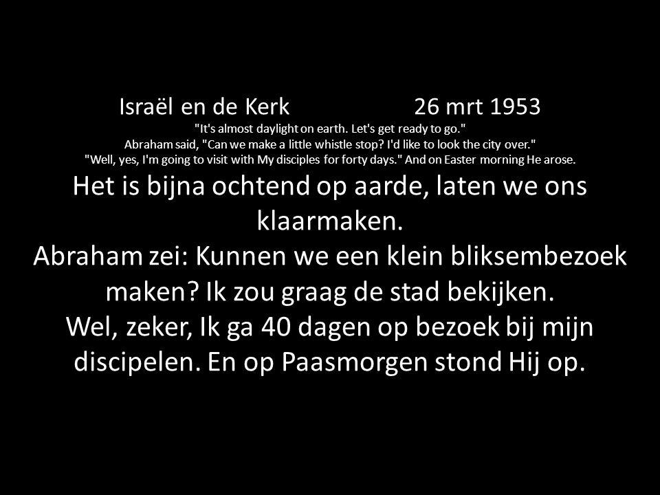 Israël en de Kerk 26 mrt 1953