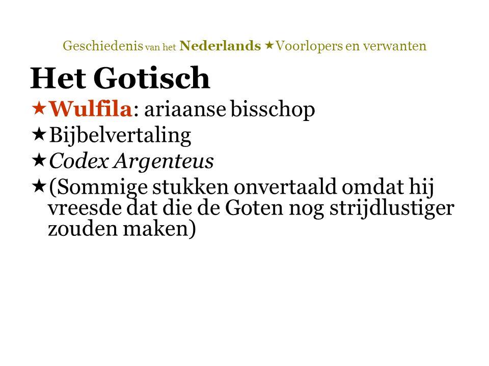 Geschiedenis van het Nederlands  Voorlopers en verwanten 1.