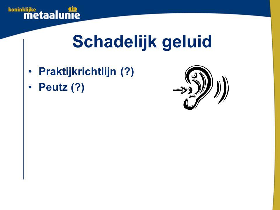 Schadelijk geluid Praktijkrichtlijn (?) Peutz (?)