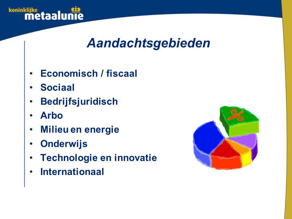 Aandachtsgebieden Economisch / fiscaal Sociaal Bedrijfsjuridisch Arbo Milieu en energie Onderwijs Technologie en innovatie Internationaal