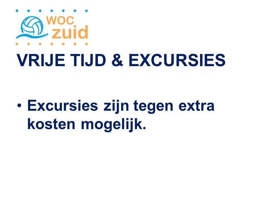 VRIJE TIJD & EXCURSIES Excursies zijn tegen extra kosten mogelijk.