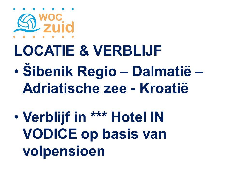 LOCATIE & VERBLIJF Šibenik Regio – Dalmatië – Adriatische zee - Kroatië Verblijf in *** Hotel IN VODICE op basis van volpensioen
