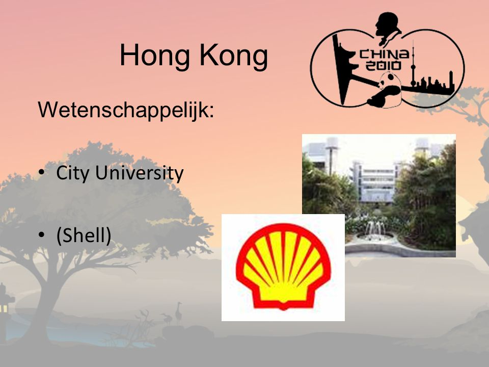 Hong Kong Wetenschappelijk: City University (Shell)