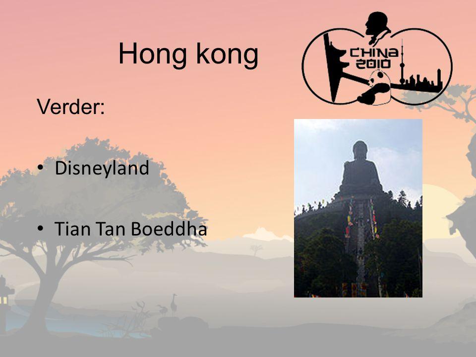 Hong kong Verder: Disneyland Tian Tan Boeddha