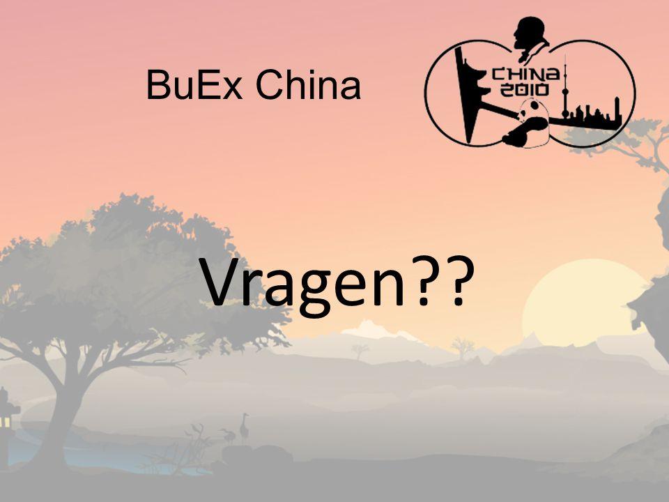 BuEx China Vragen??
