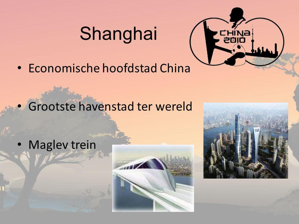 Shanghai Economische hoofdstad China Grootste havenstad ter wereld Maglev trein