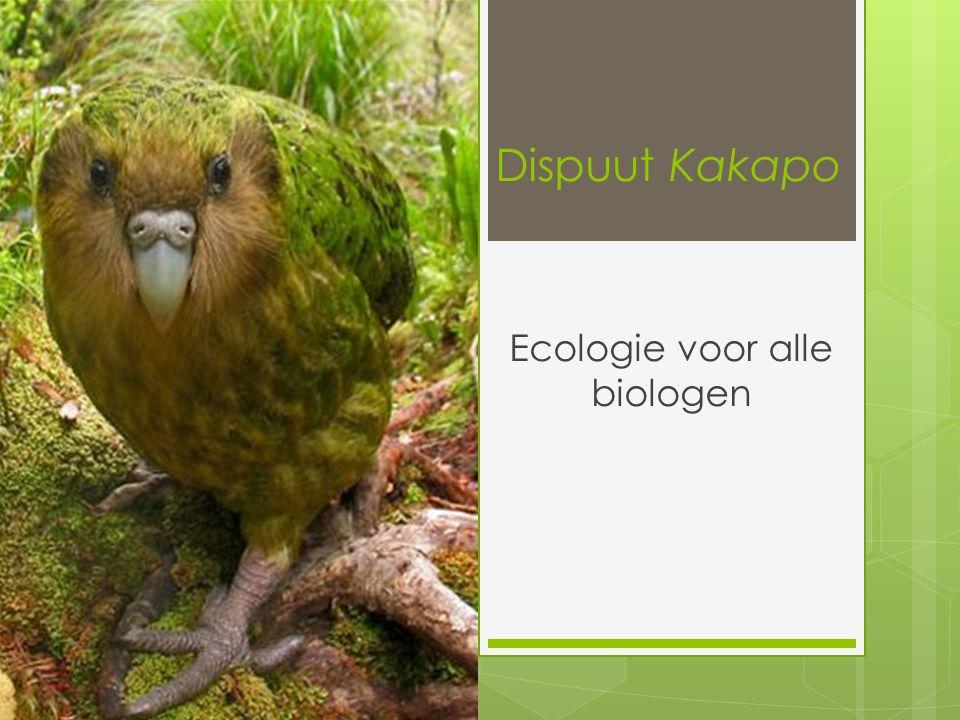 Dispuut Kakapo Ecologie voor alle biologen