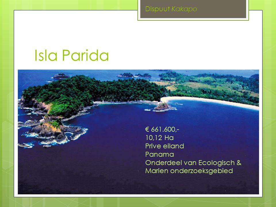 Isla Parida Dispuut Kakapo € 661.600,- 10,12 Ha Prive eiland Panama Onderdeel van Ecologisch & Marien onderzoeksgebied