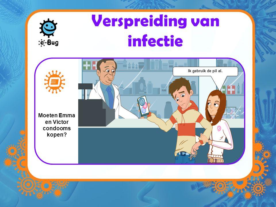 Verspreiding van infectie Ik gebruik de pil al. Moeten Emma en Victor condooms kopen