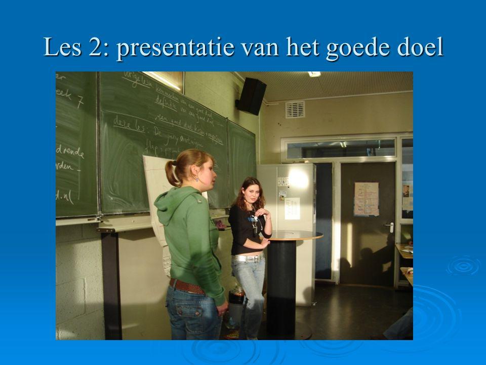 Les 2: presentatie van het goede doel