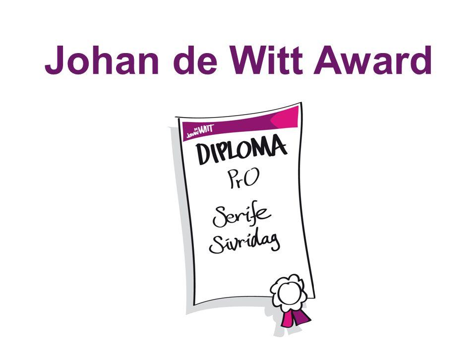 Johan de Witt Award