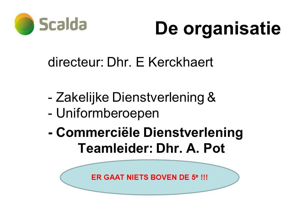 De organisatie directeur: Dhr.