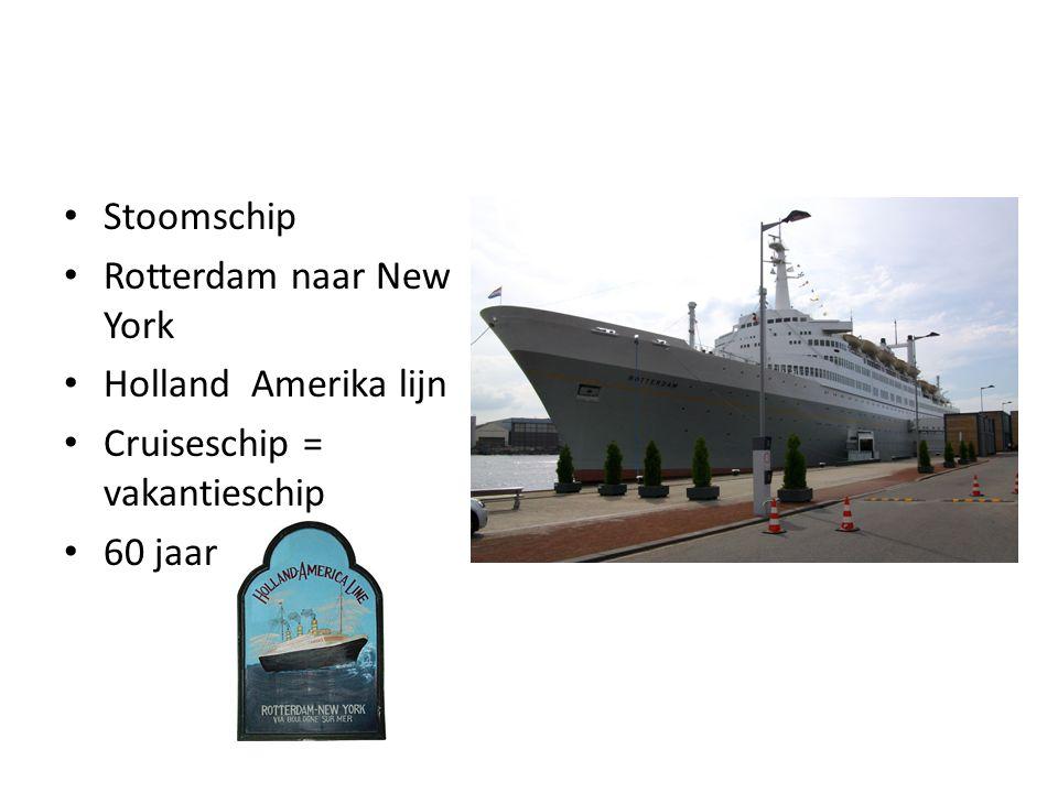 Stoomschip Rotterdam naar New York Holland Amerika lijn Cruiseschip = vakantieschip 60 jaar