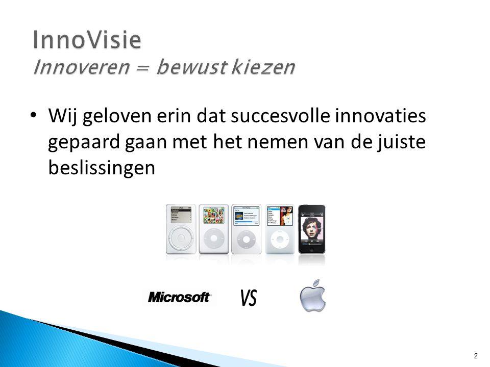 Wij geloven erin dat succesvolle innovaties gepaard gaan met het nemen van de juiste beslissingen 2