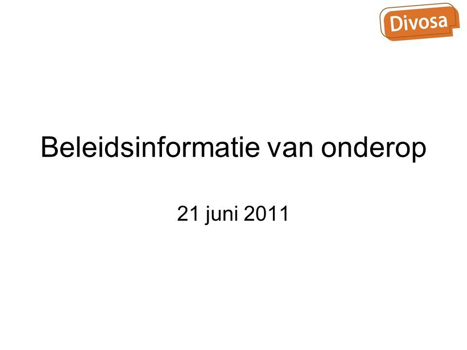 Beleidsinformatie van onderop 21 juni 2011