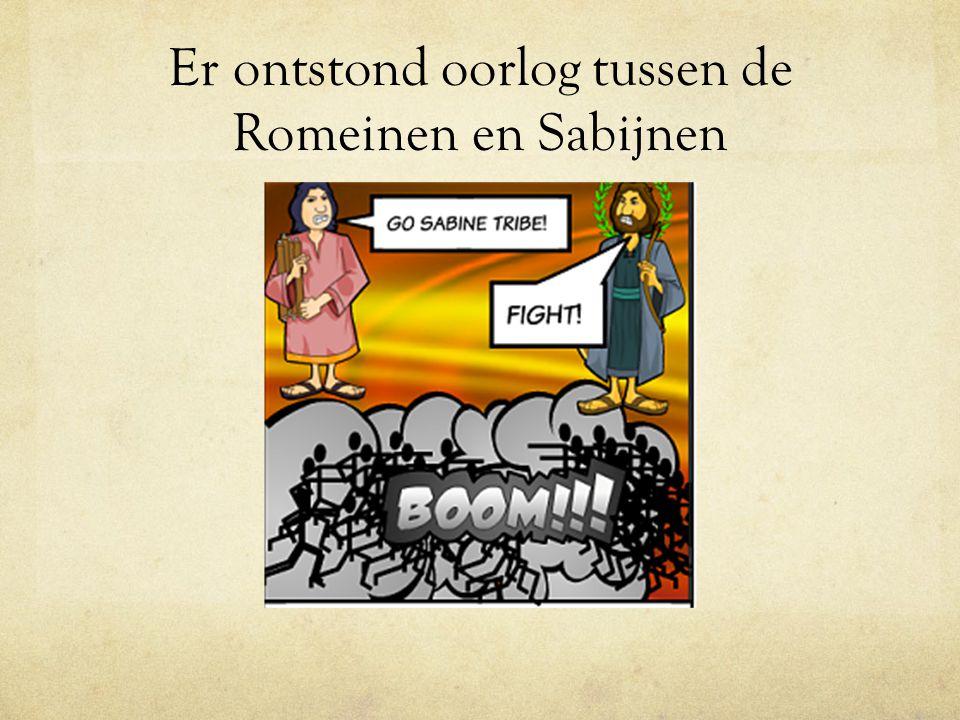 Er ontstond oorlog tussen de Romeinen en Sabijnen