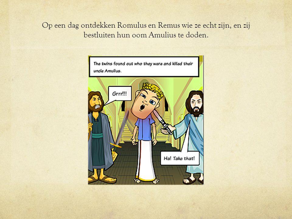 Romulus en Remus vechten: wie van hen zal een stad stichten en die naar zijn eigen naam noemen?