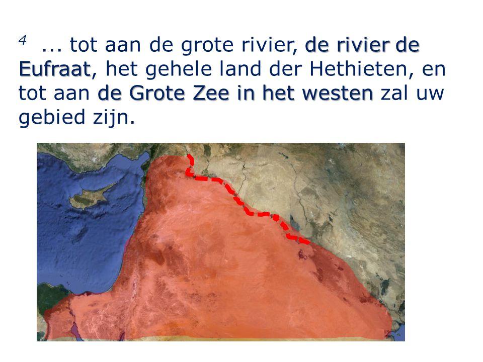 de rivier de Eufraat de Grote Zee in het westen 4...