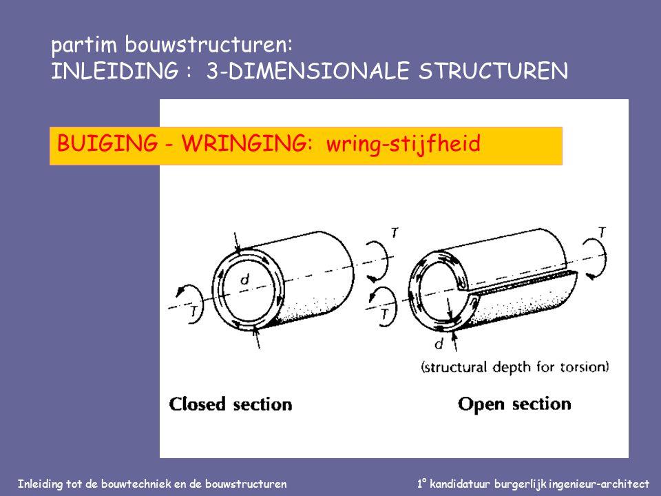 Inleiding tot de bouwtechniek en de bouwstructuren1° kandidatuur burgerlijk ingenieur-architect partim bouwstructuren: INLEIDING : 3-DIMENSIONALE STRUCTUREN 'RUIMTE' - VIERENDEEL