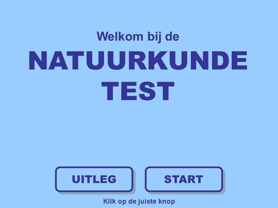 Welkom bij de NATUURKUNDE TEST UITLEG START Klik op de juiste knop