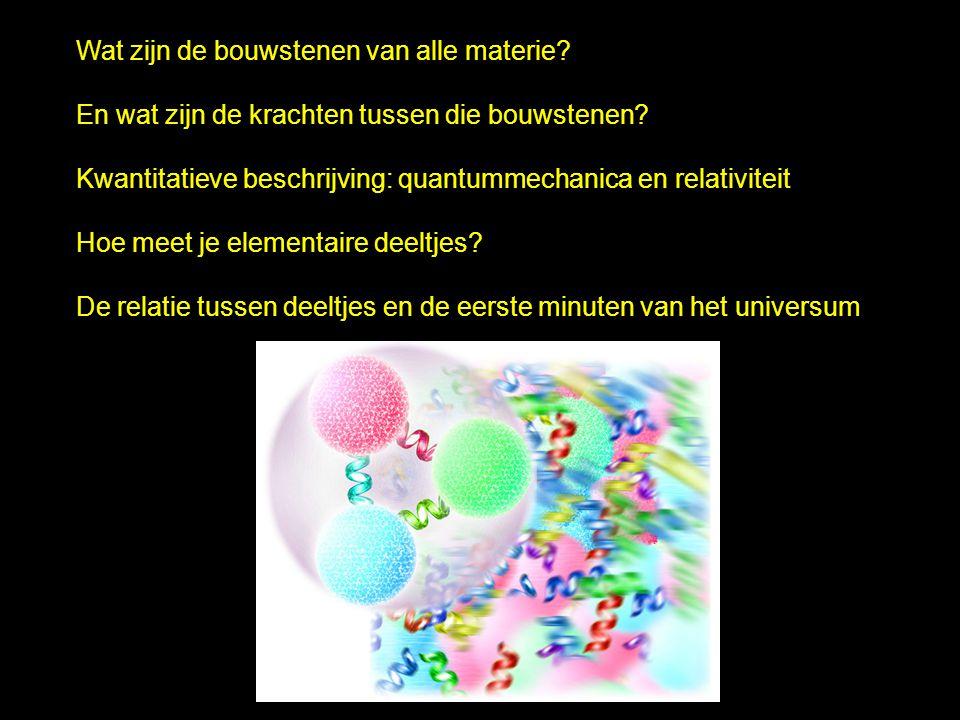 Wat zijn de bouwstenen van alle materie? En wat zijn de krachten tussen die bouwstenen? Kwantitatieve beschrijving: quantummechanica en relativiteit H
